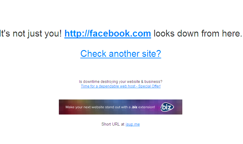 Check if your website is down or up