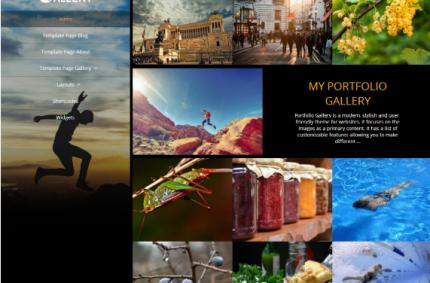 5+1 gyönyörű, reszponzív WordPress sablon ingyen, fotósoknak
