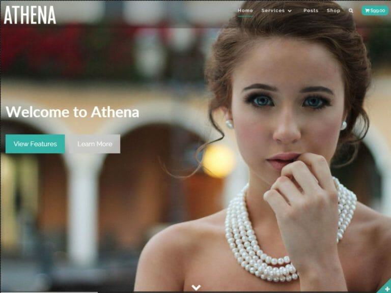 Athena WordPress sablon ingyenes letöltés