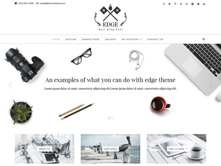 Edge wordpress sablon ingyen