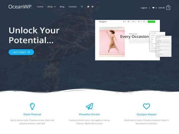 OceanWP WordPress sablon ingyen