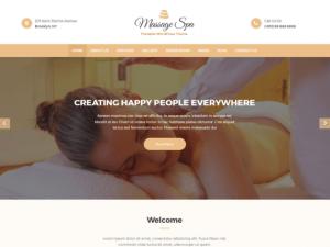 Masszázs websablon - ingyen letölthető WordPress honlapsablon
