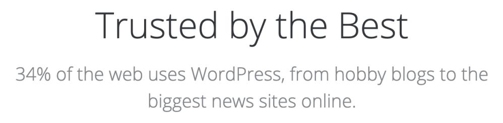 A weboldalak 34%-a WordPress-en fut