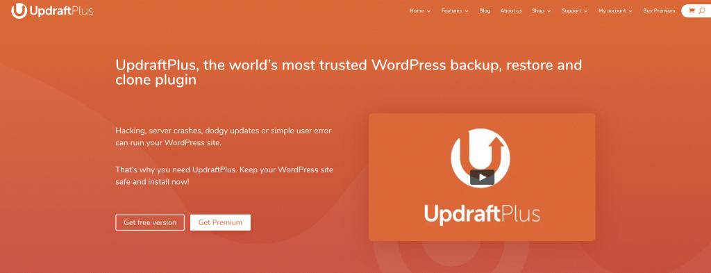 WordPress backup plugin, Updraft
