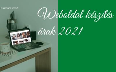 Weboldal készítés árak 2021-ben